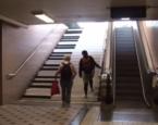L'escalier piano du métro de Stockholm