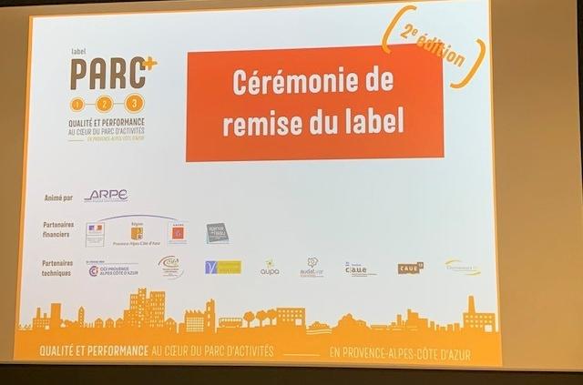 Parc+ Cérémonie de remise de Label